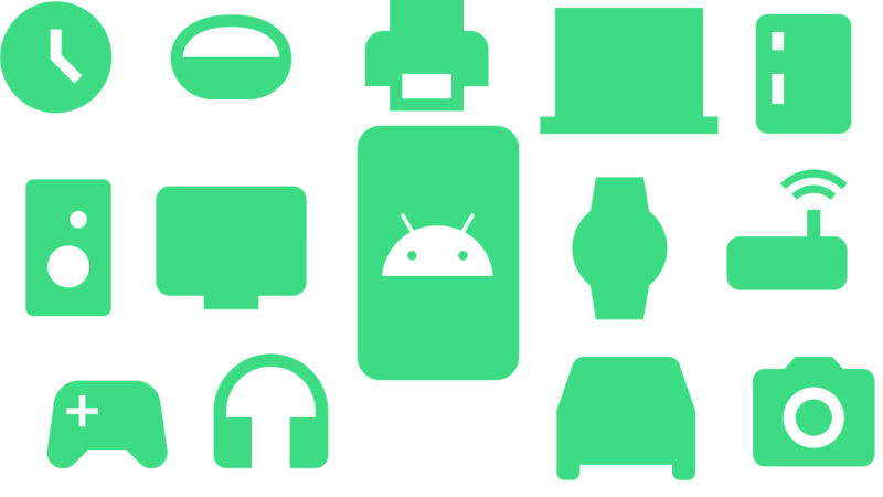 A collage of Google icons.